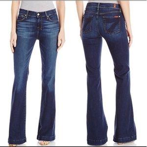 7 For All Mankind | Dark Wash Flare Dojo Jeans